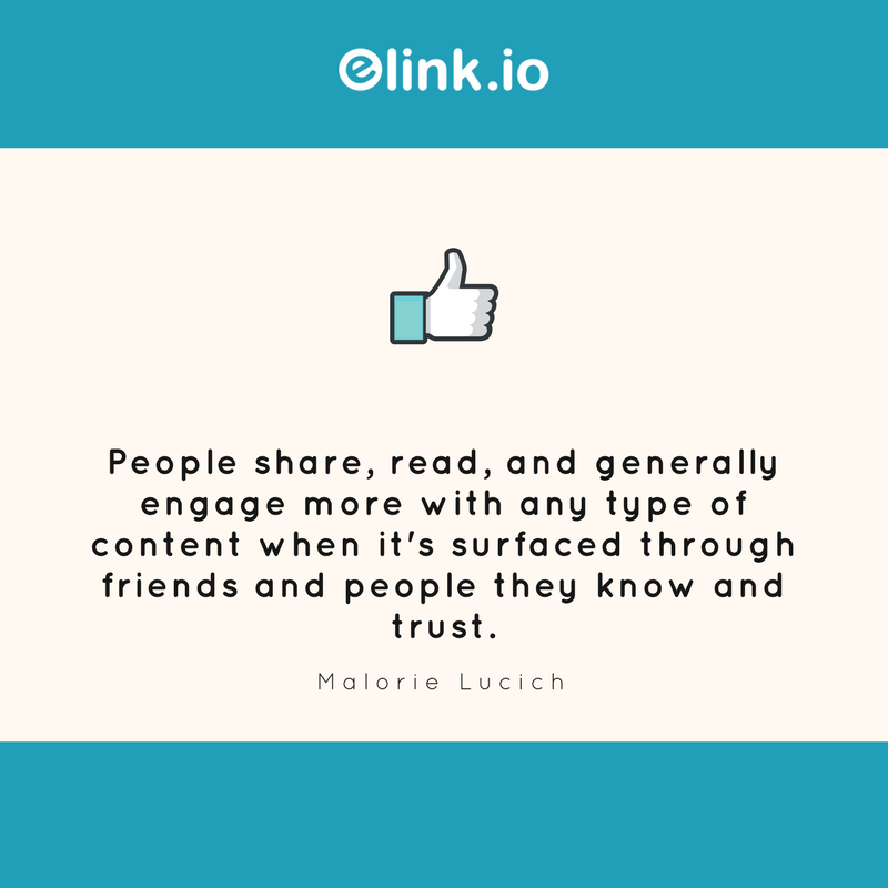 Marketing quotes based on facebook and social media