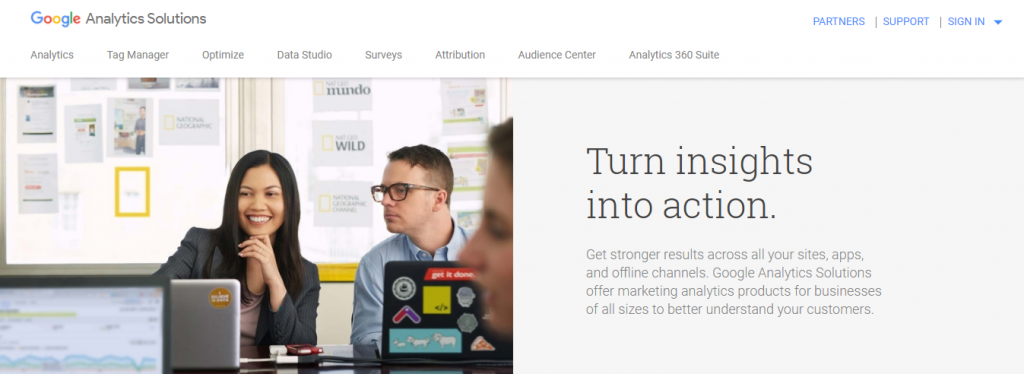 google analytics for keeping track of all your social media marketing efforts
