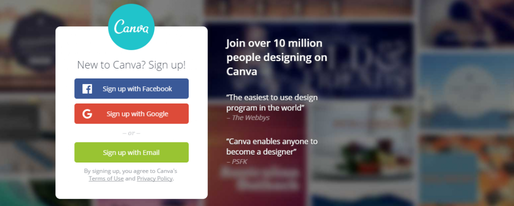 Canva: A designing tool