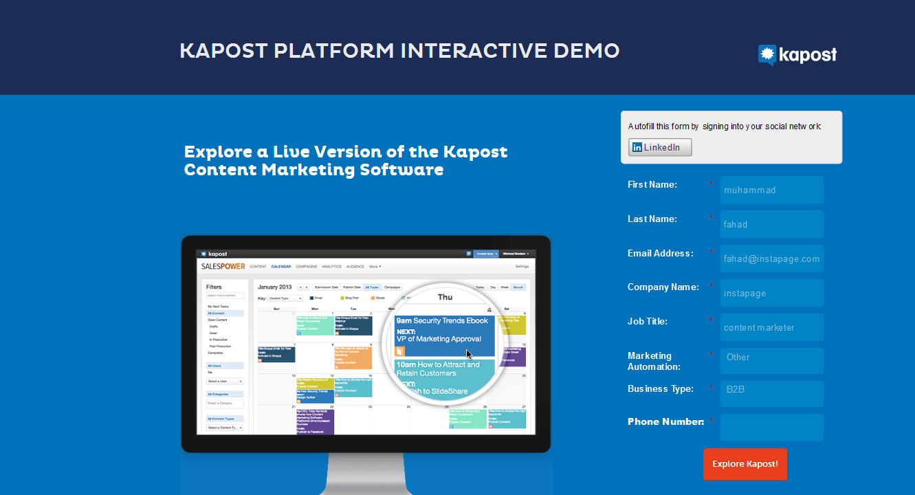 Kapost content marketing software