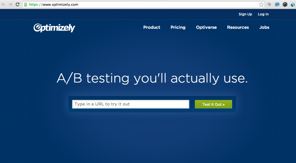 Optimizely: Tool for creating marketing collateral