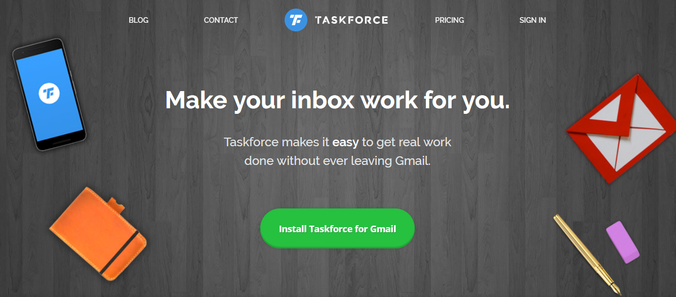Task force : A gmail plugin