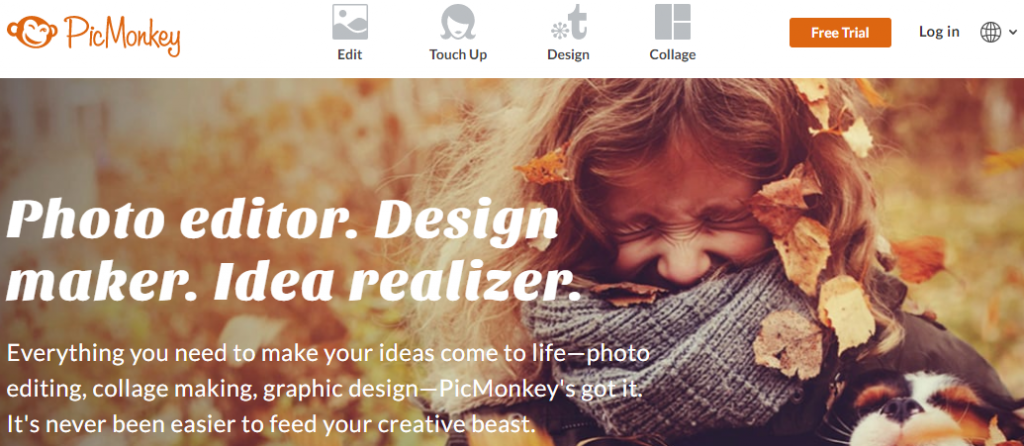 Picmonkey: A graphics designing tool