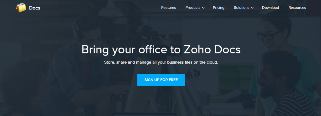 Zoho docs for creating documents