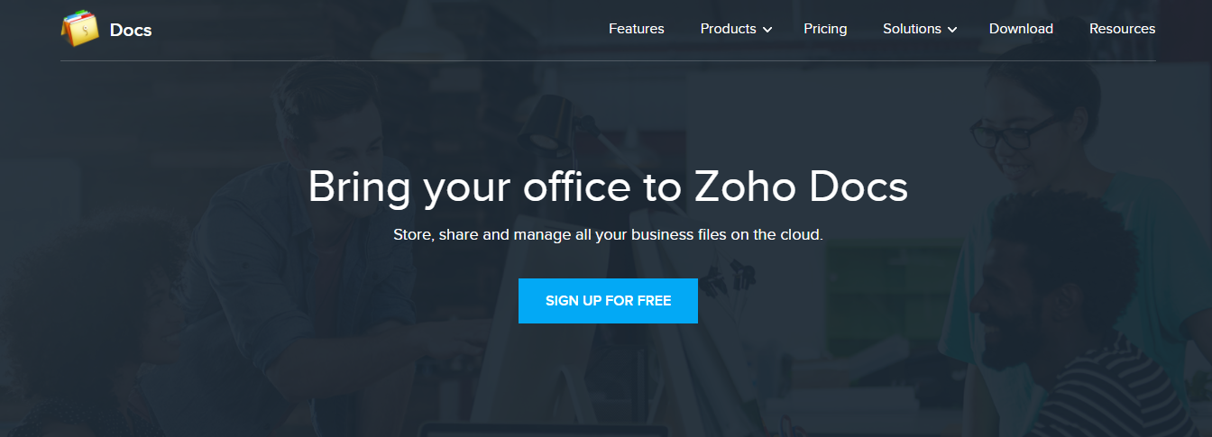 Zoho as a google docs alternative