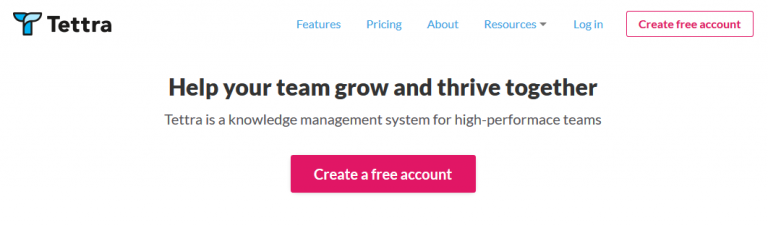 Tettra - Knowledge and content management tool