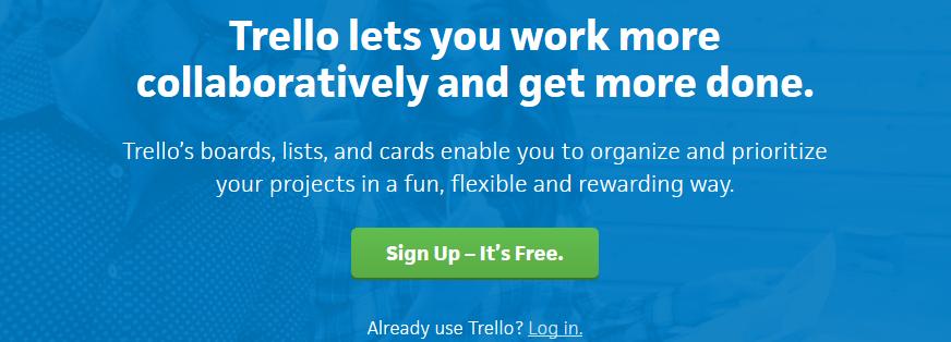 Trello for collaboration of teams