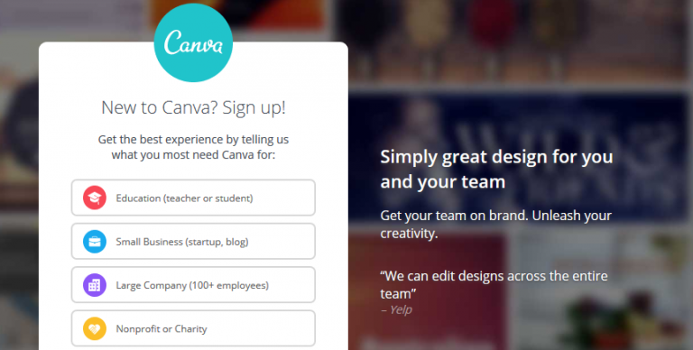 Canva for collaboration of teammates.