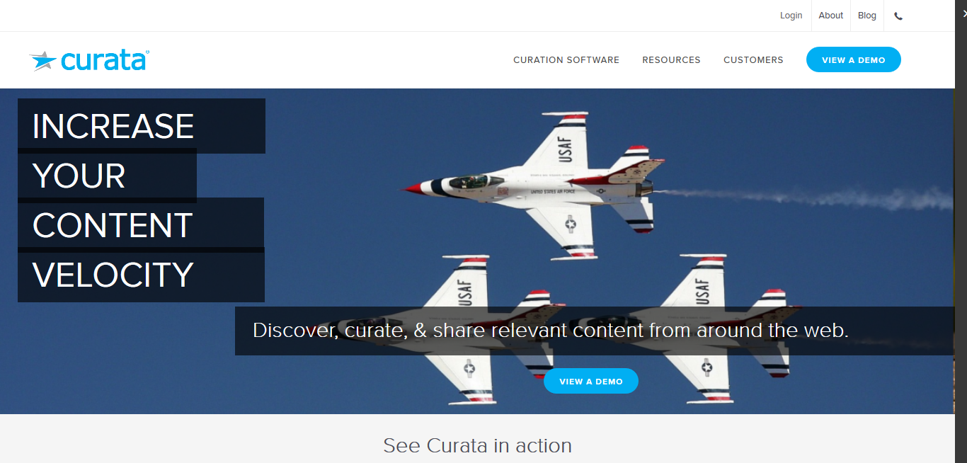 Curata for discovering, curating and sharing relevant content from around the web
