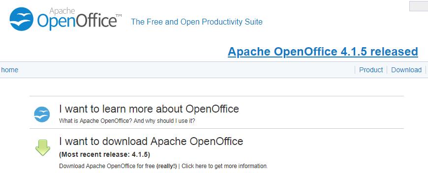Open office as microsoft word alternative