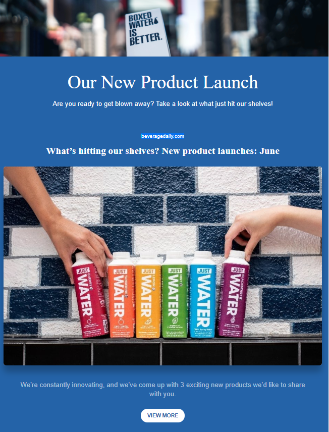 New products announcement company newsletter