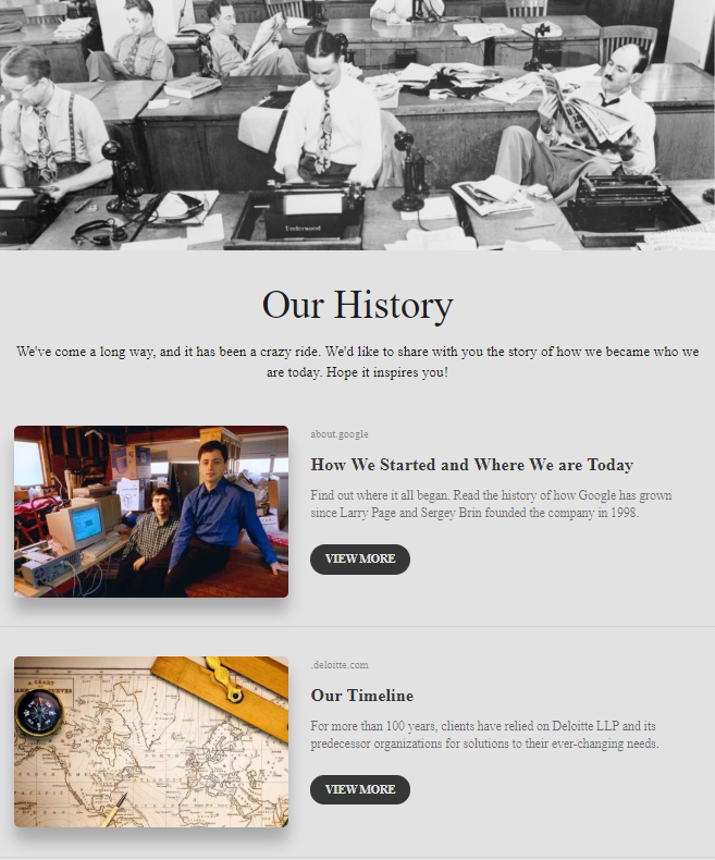 Sharing your business history by company newsletter