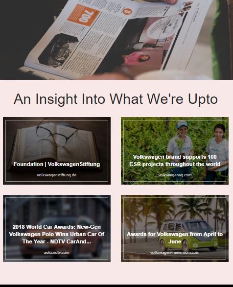 Sharing company news by company newsletter idea
