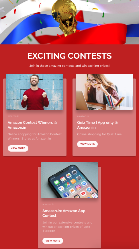 Organising online contests and sharing information through company newsletters