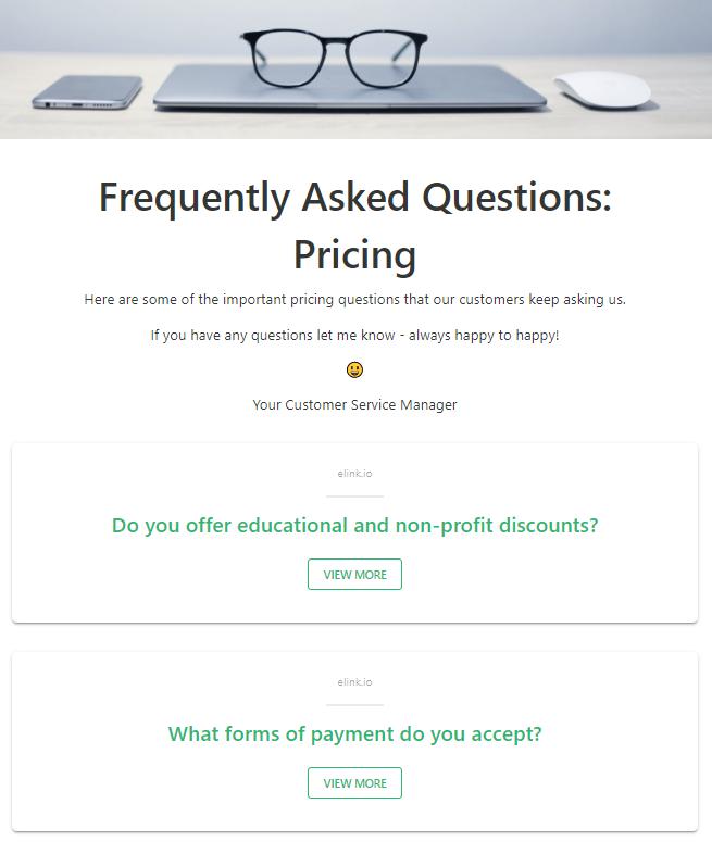 Faqs sharing by company newletter idea