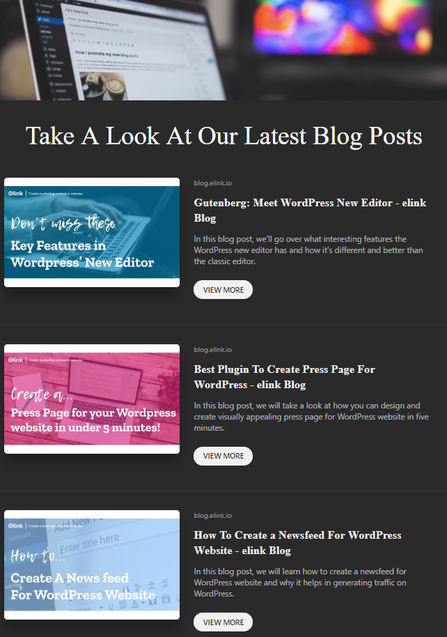 Blog posts sharing by company newsletter idea