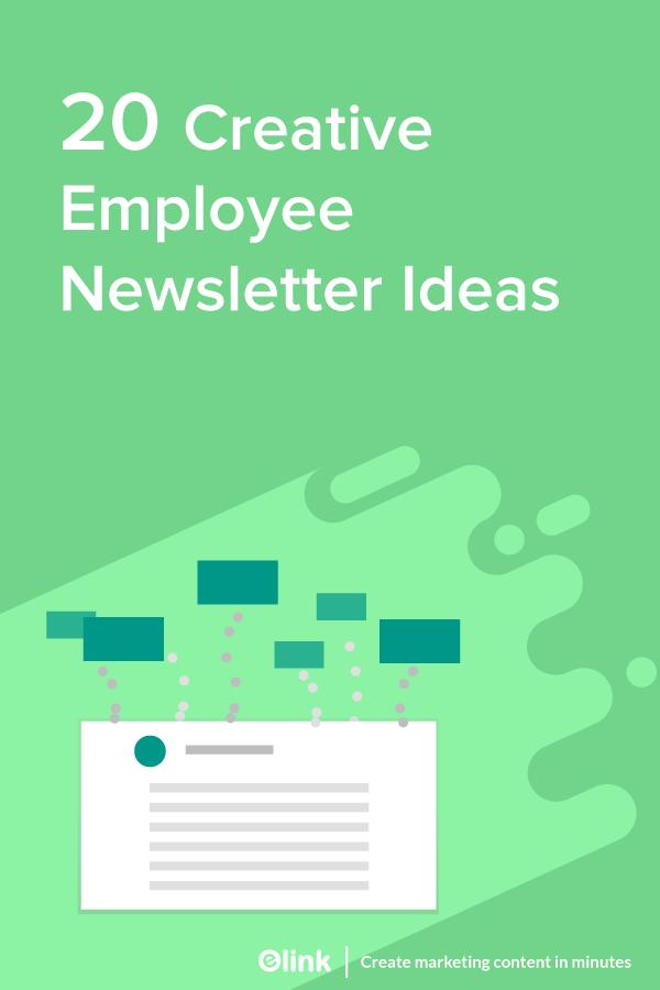 Employee newsletter ideas - Pinterest image