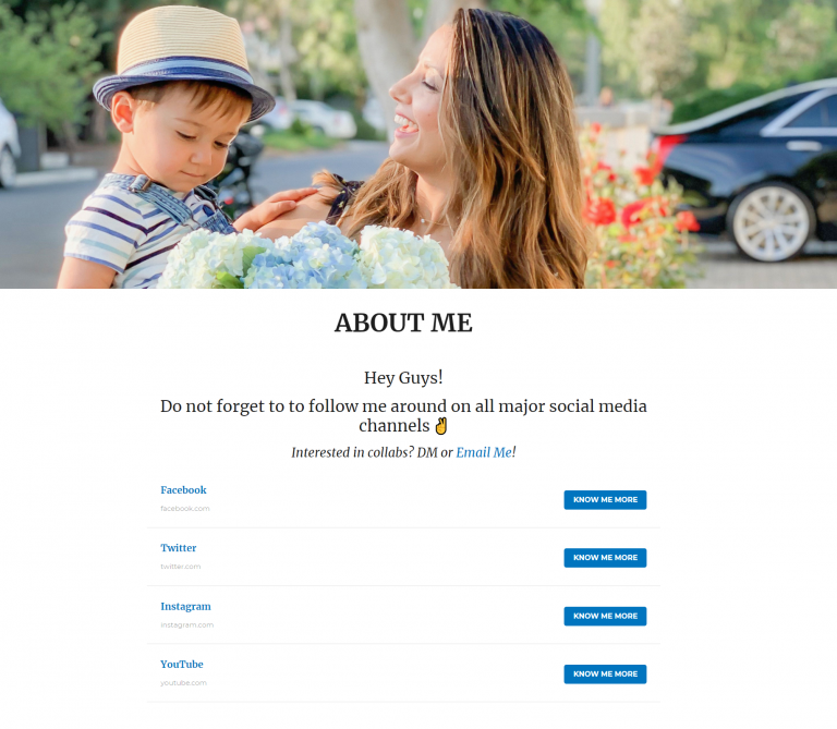 About me page template 4: Bagum
