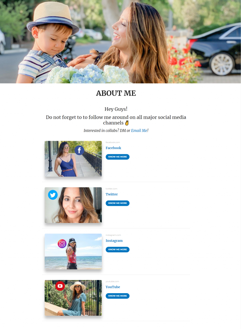 About me page template 2: Tuli