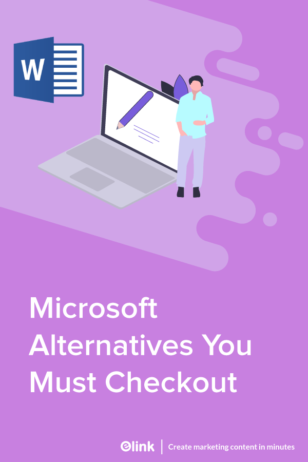Microsoft alterntives you must check out - Pinterest image