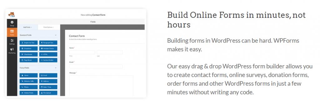 WPForms for WordPress Gutenberg Plugin.