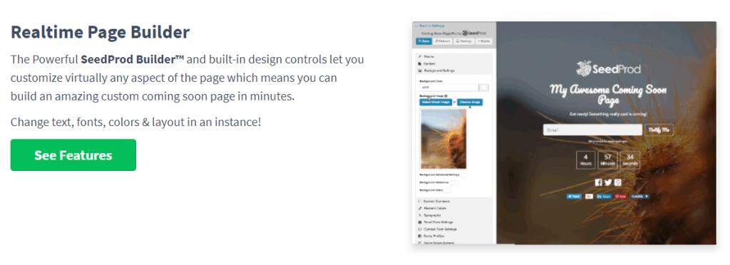 SeedProd for WordPress website customisation