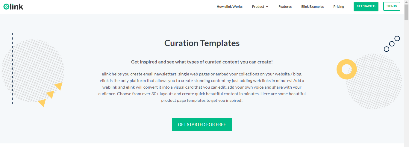 elink.io for curation templates
