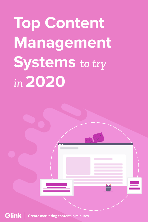 Top content Management systems to try in 2020 - Pinterest image