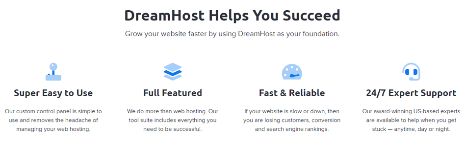 Dream host : A webhosting service provider