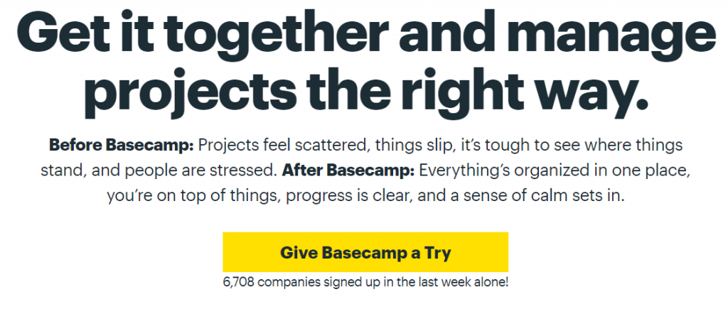 Basecamp: Project management tool
