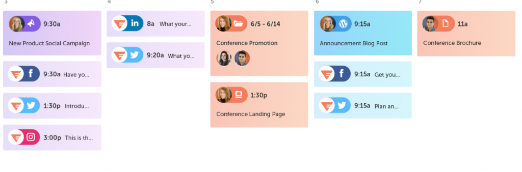 Coschedule for scheduling your social media posts