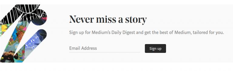 Medium - A content curation platform