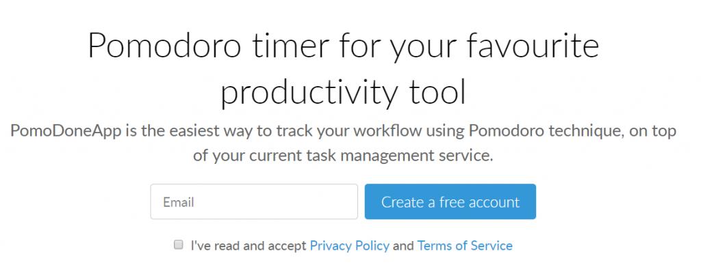 Pomodone app for better productivity
