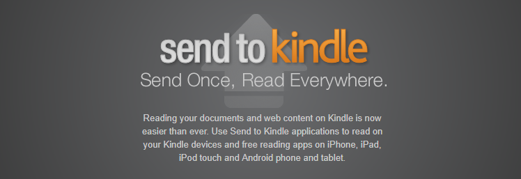 Send it to Kindle tool for saving your content