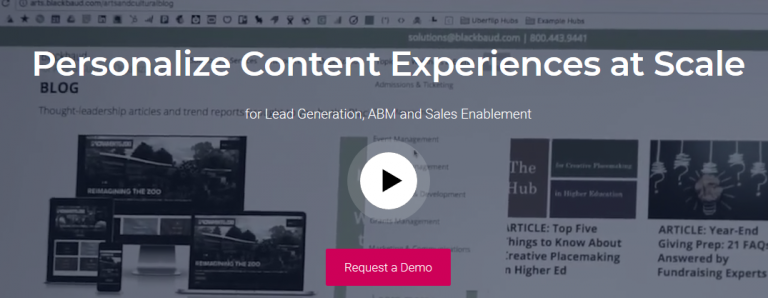 Uberflip : Content curation platform