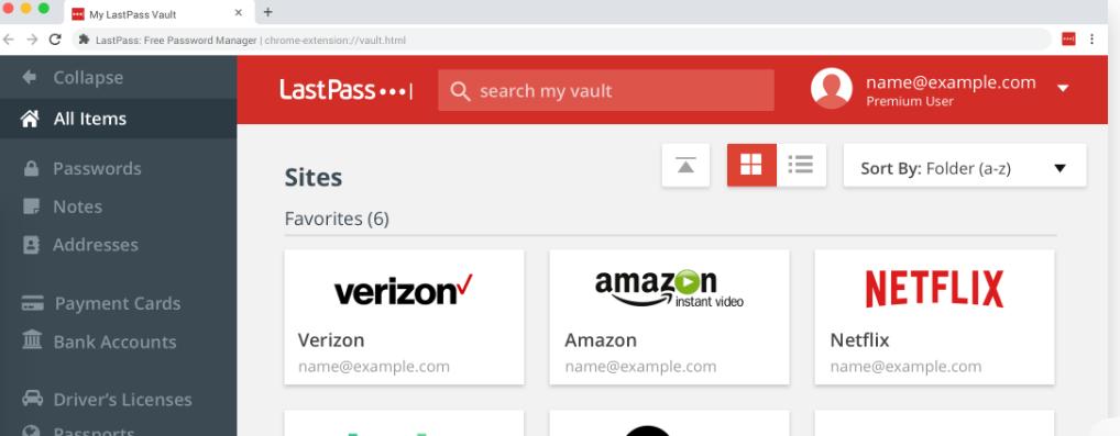 Last pass: Chrome extension