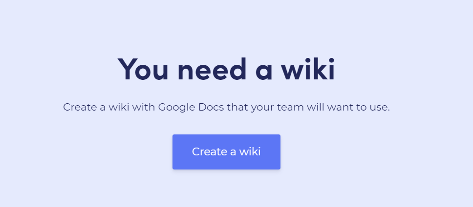 You need a wiki: A wiki tool