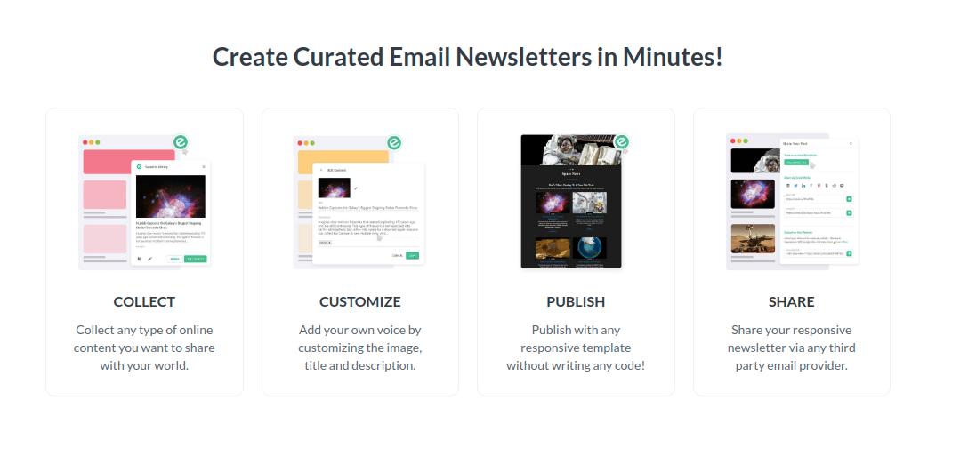 Design html newsletters in elink.io screenshot
