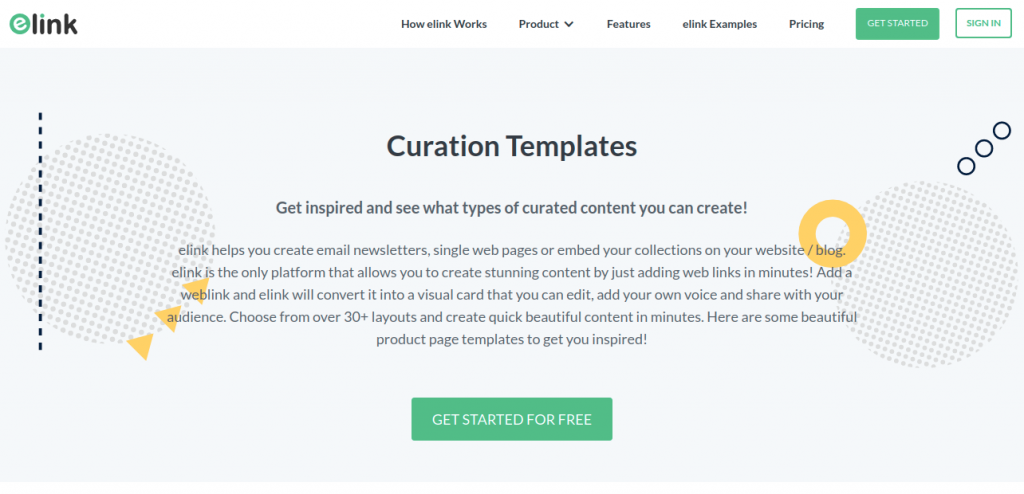 Elink's curated newsletter templates page