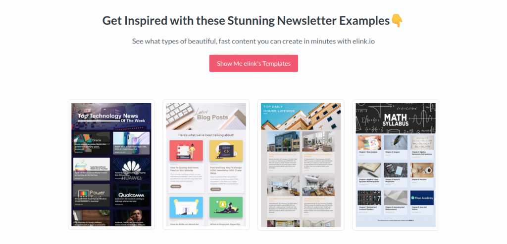 Elink.io : Email Newsletter software