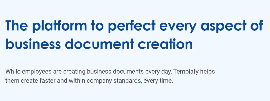 Templafy : Cloud document management system