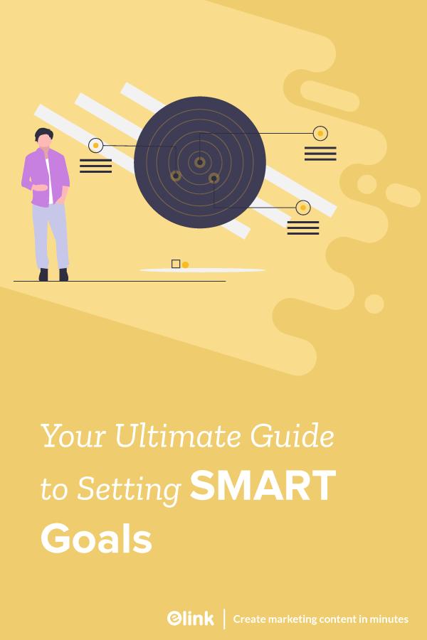 Smart goal setting- pinterest image