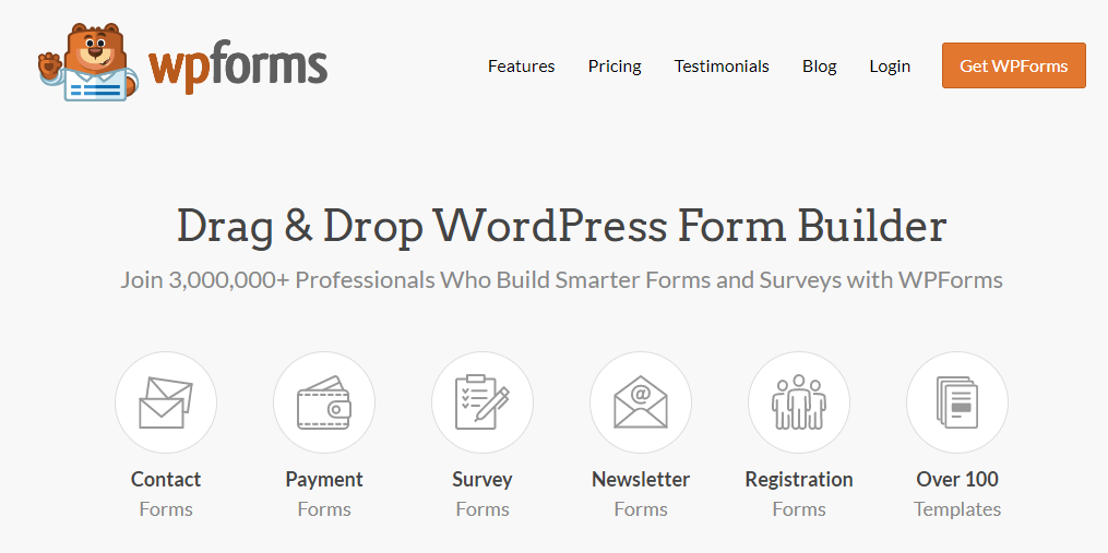 WPforms: Lead generation software