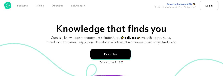 Guru: Knowledge management tool