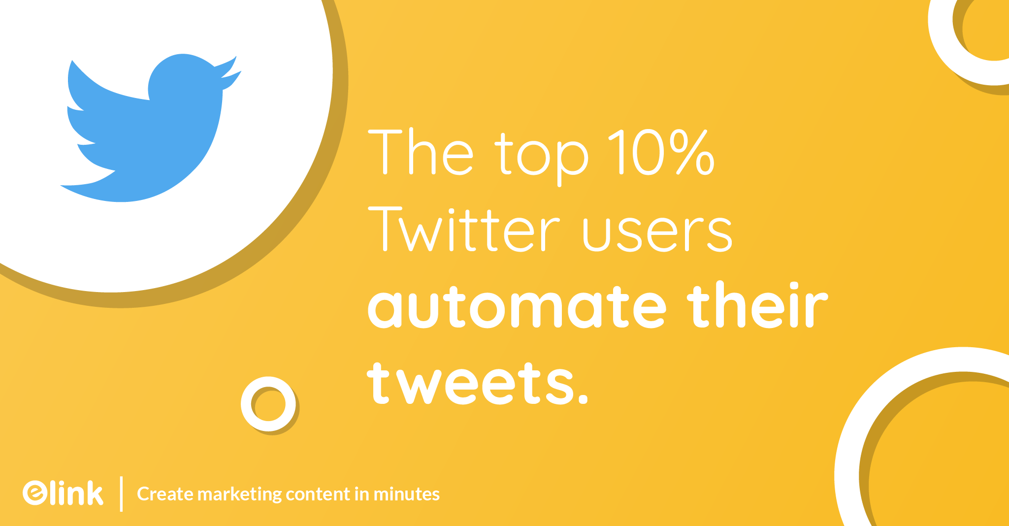The top 10% twitter users automate their tweets