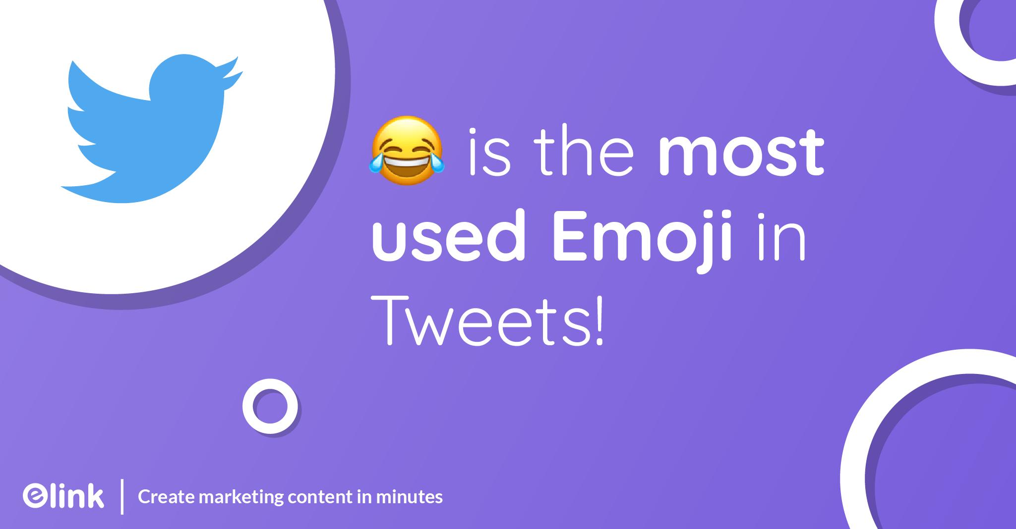 😂 is the most-used Emoji in Tweets!