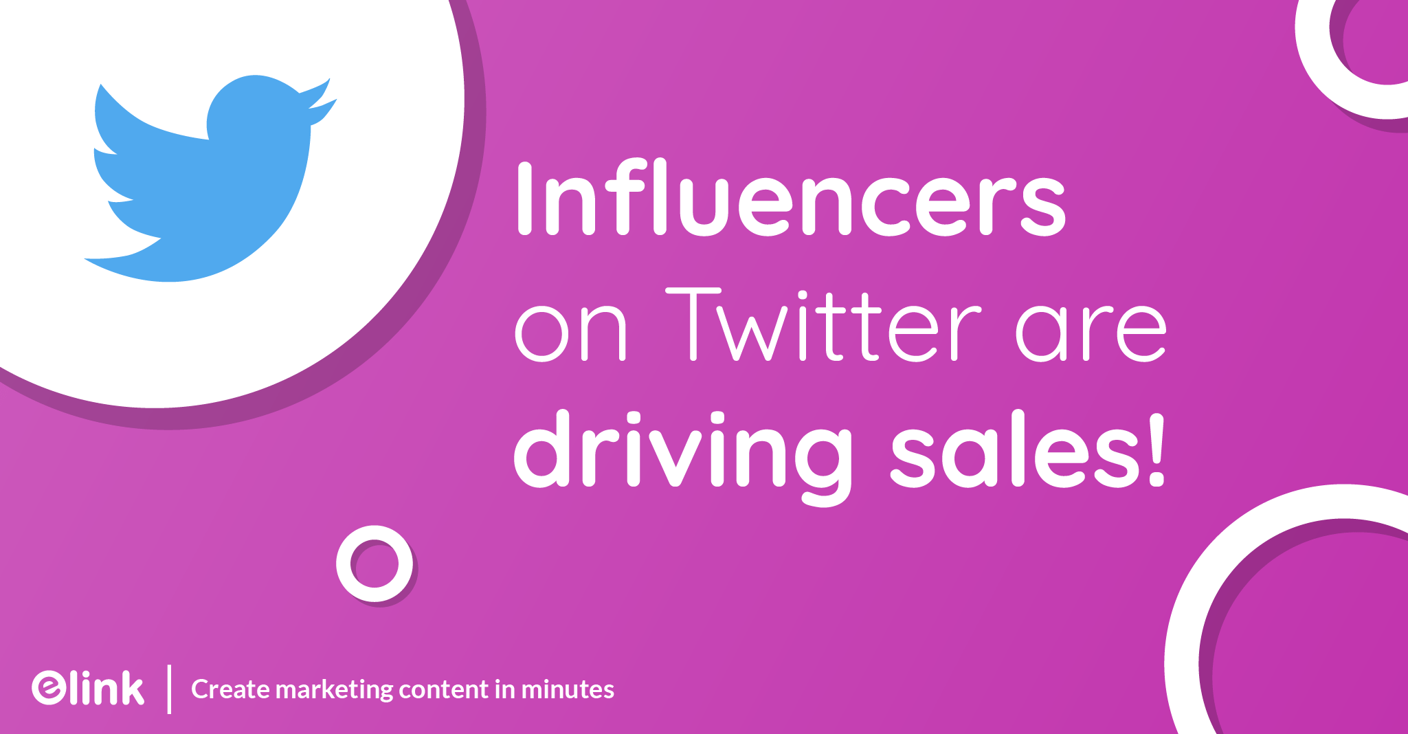 Influencers on Twitter are driving sales!