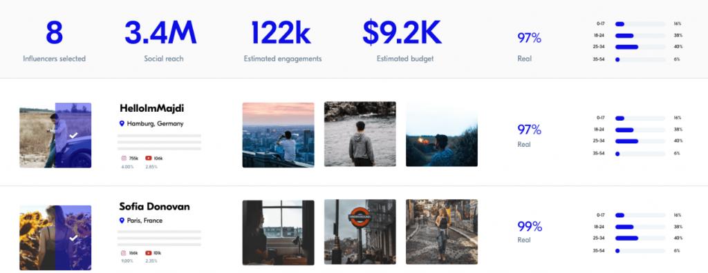 Upfluence tool for instagram marketing