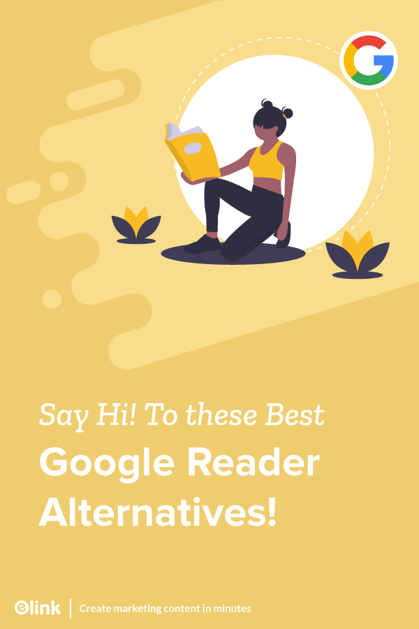 Google reader alternatives - Pinterest image