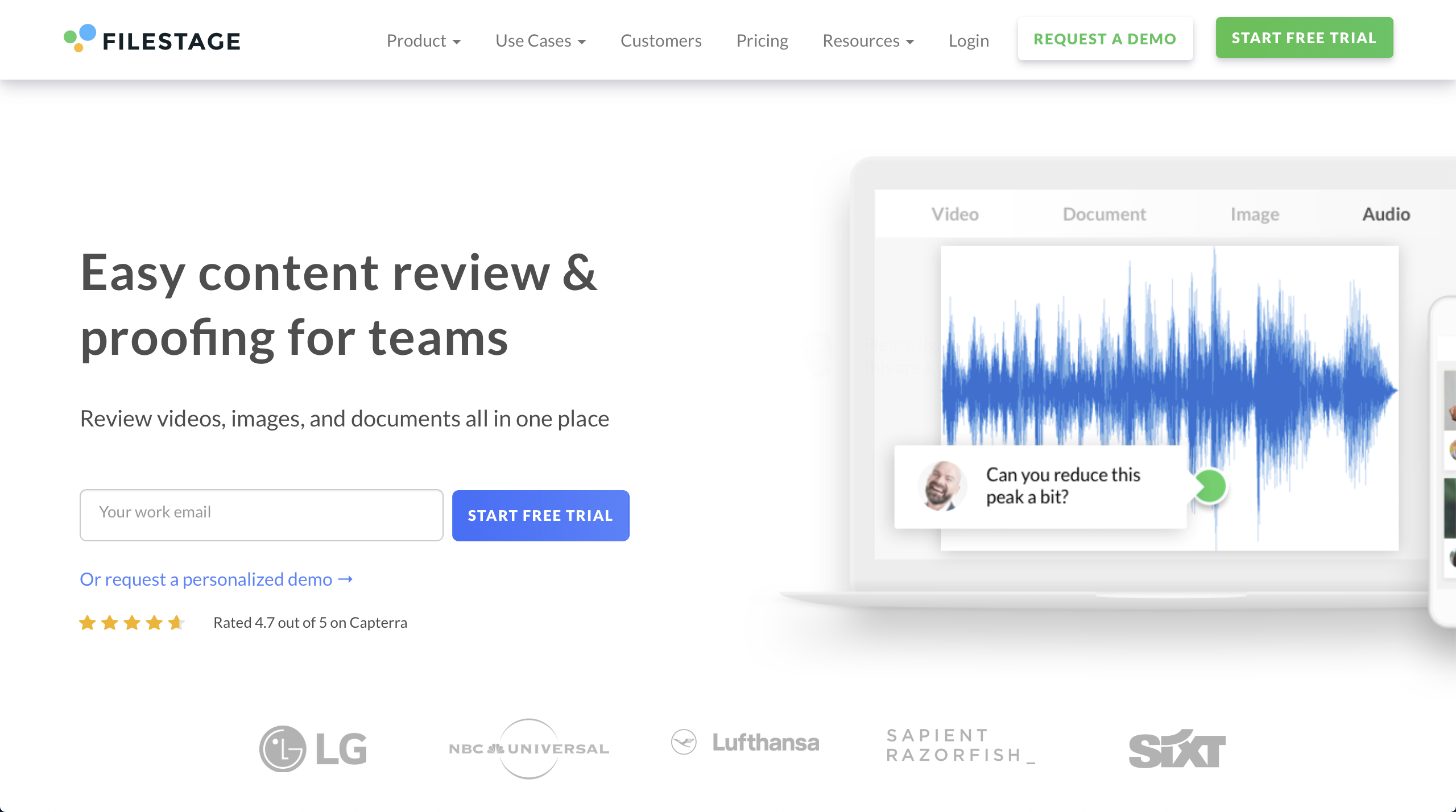 Filestage: Online collaboration tool